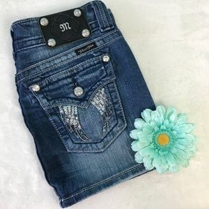 Miss Me Skirts - Miss Me Flap Pocket Denim Skirt